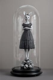 white-rabbit-sculpture
