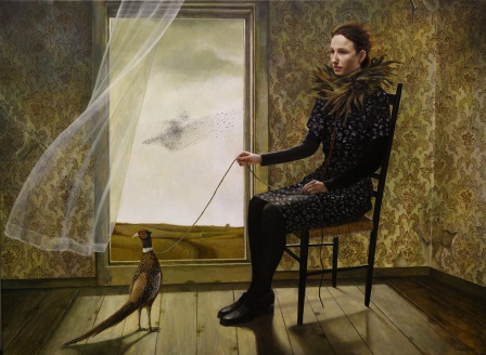 andreakowch_pheasant-keeper_36x48_acrylic-on-canvas