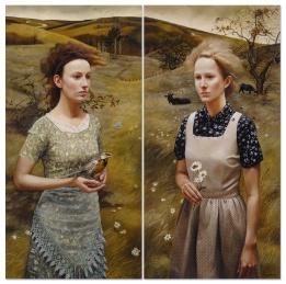 andreakowch_rural-sisters-II_48x48_acrylic-on-canvas
