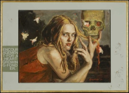 Gail-Potocki-Encouragement-of-the-Heart-Growing-Fonder-Painting-Art-Opening-Exhibition-Femme-Fatale