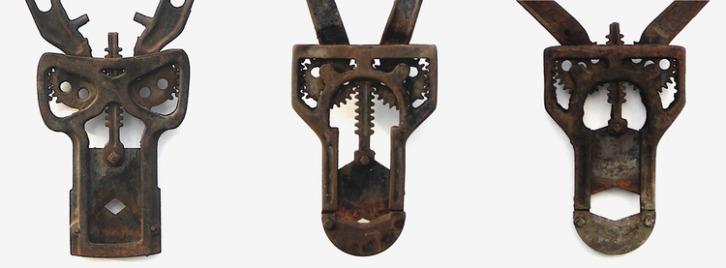 long horned masks face details #2small