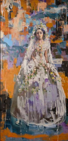 Bride of Flowers (60x30) oil on canvas 2013