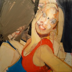 girlsgonewild45 (16x16inche,oil on board, 2011)