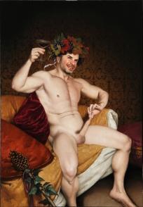 Barahona Possollo, Bacchus, oil on canvas, 46'x32', 2011