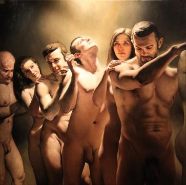 Barahona Possollo, Chain, oil on canvas, 44'x44', 2011