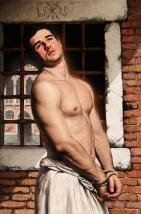 Barahona Possollo, King Sebastian as Ecce Homo, oil on canvas, 34'x26', 2012