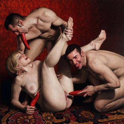 Barahona Possollo, Pungent, oil on canvas on wood, 39x39', 2013