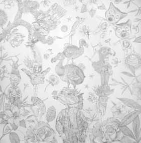 Miroir Magazine - Purgatory - silverpoint drawing - Lori Field