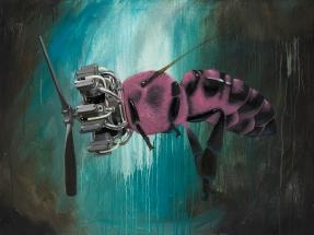 Pink Pollinator 30x40