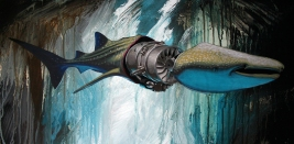 Whale Shark 2015 12x24 acrylic on panel
