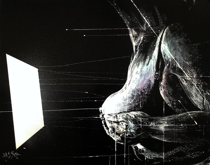 70. TASSO - Schöne Augen, Lack+Acryl on canvas 80x100, 2013 kl.