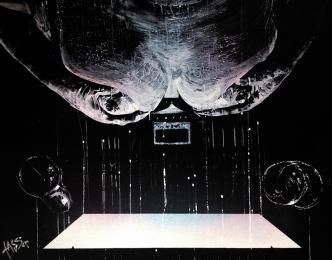 71. TASSO – Auf ein Glas Wein, Lack+Acryl on canvas 80x100, 2013 kl.