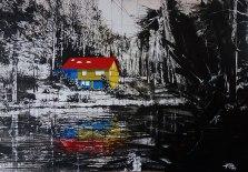 96. TASSO - Das Schweigen im Walde. SprayLack+Acryl on Canvas 140x200, 2015 - klein