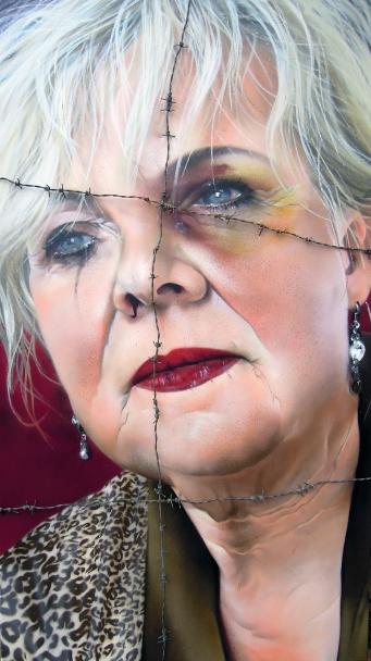 TASSO - Knabe sprach... SprayLack on canvas 180x100, 2014