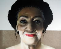 TASSO - SchattenLadies - geartelt, Spraylack on canvas 80x100, 2013