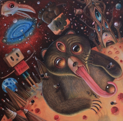 Hopi-Dream-Tao-acrylic-on-wood-by-peca-redmas-expo