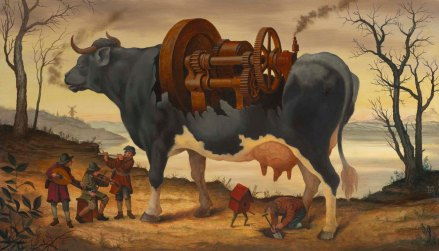 the squeaky wheel 24x14 oil on panel 2014