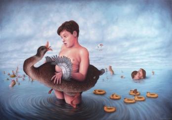 Bec et ongles - Oil on canvas - 81 x 116 cm - 2013