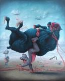 La main à la patte - Oil on canvas - 162 x 130 cm - 2014