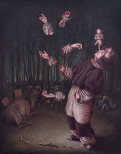 L'histoire à dormir debout - Oil on canvas - 146 x 114 cm - 2012