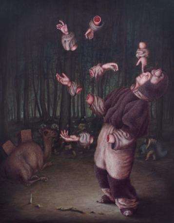 L'histoire à dormir debout - Oil on canvas - 146 x 114 cm - 2012