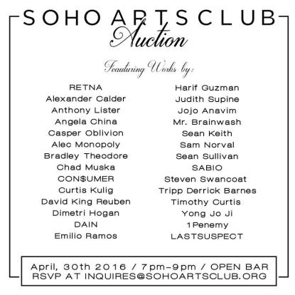 soho arts club auction
