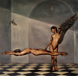 eros & psyche, 36x36 inches,oil on linen, 2012