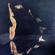 Flight, 48x48 inches, oil on linen, 2014