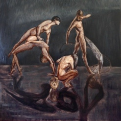 From the shadows & Reflections series, 24x24 inches, oil on linen, 2013