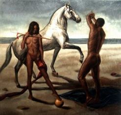 Paradise lost - 36x36 inches - oil on linen - 2010