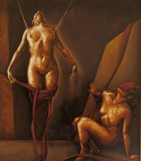 Suspended, 18x22 inches, oil on canvas, 2004