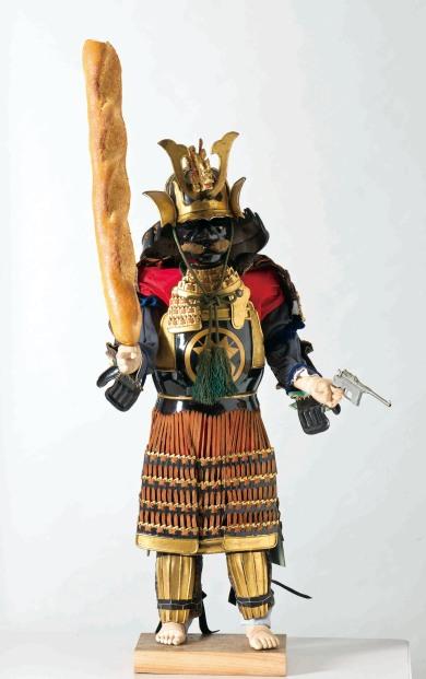 Little Samurai. 27 x 18.5 x 100. Mix media installations. 2016