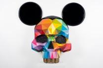 Mickey_s-scalp - Corey Helford Gallery - Los Angeles - Apr2017 - Synthetic enamel on fiberglass - 130x80x32cm