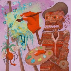 Art Machine, 30 x 30 in. Acrylic on Linen