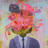 Open Mind, 30 x 30 in. Acrylic on Linen