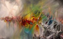 Living Creates Strange Bones 50X31 Oil on Canvas