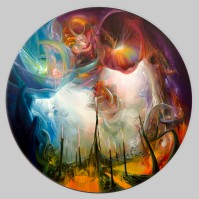 Spilling Light 360 5ft Oil on Canvas