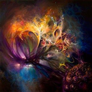 Viral Death-Match 36X36 Oil on Canvas