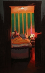 Private Eye, oil on canvas, 36_x60_