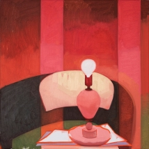 red light no. 1 24_x24_ oil on canvas