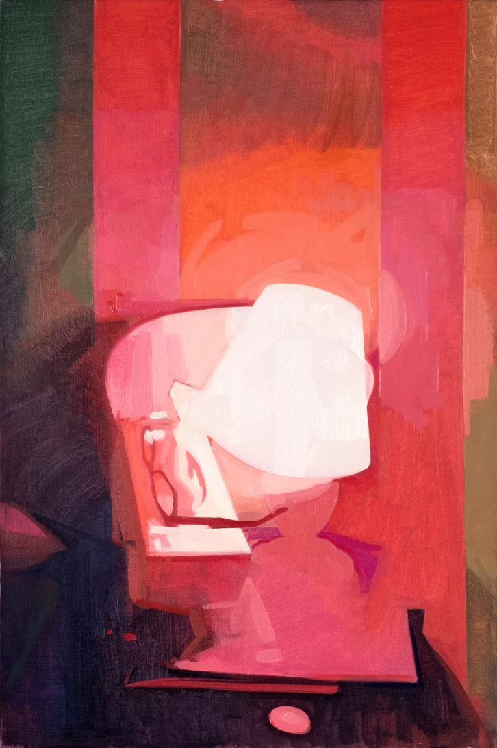 Red Light No.2, Felicia Forte, oil on canvas, 20_x30_