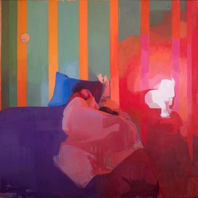 Time Traveler_Felicia Forte_oil on canvas_72_x72_