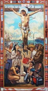 1. CRUZ Y FICCION(ES) (2018) Oil on canvas 42 x 80 inches (72 dpi)