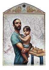 4. SAUL GUATU (2018) Oil and gold leaf on panel 24 x 30 inches (72 dpi)