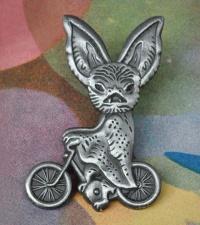 bike bat pin