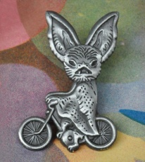 bike bat pin