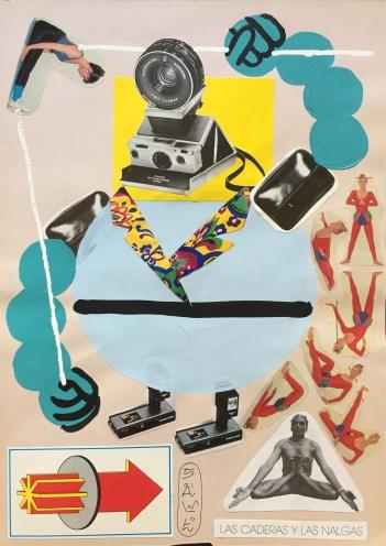 SAWE - _FLEX GOD 1_ - 2017 -21cm x 29,7cm - Acrylic, typix and collage on cardboard
