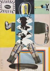 SAWE - ADAN_1 - 2017 - 21cm x 29,7cm - Acrylic, typix and collage on cardboard