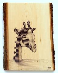 Last Animal in the Ark_Ballpoint on Wood
