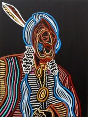 Water Protector_48x36_Oil on Canvas